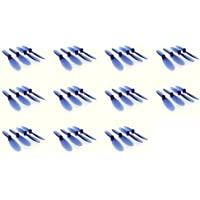11 x Quantity of Hubsan X4 H107D Transparent Clear Blue Propeller Blades Props Rotor Set 55mm Factory Units