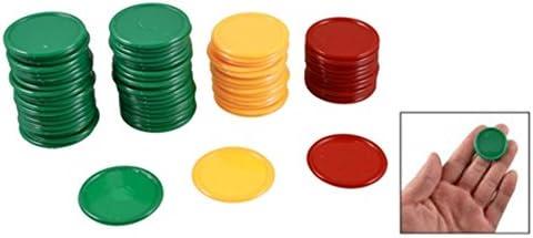 RETYLY Rosso Giallo Verde Rotonda a Forma di Poker Chips forunato Game Props 69 Pz