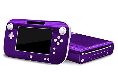 Nintendo Wii U Skin - NEW - PURPLE CHROME MIRROR system skins faceplate decal mod ()