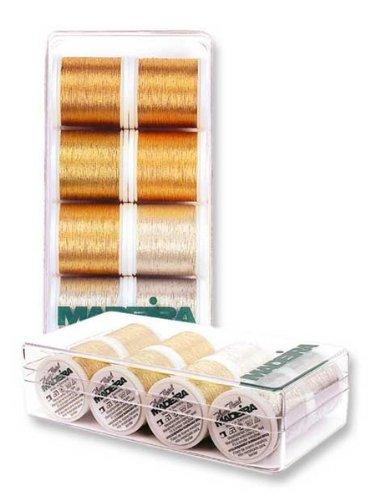 Madeira Heavy Metal 8014 Embroidery Thread Box Assortment With 8 Metallic Spools