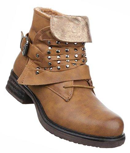36 Stiefeletten Damen 37 Gefütterte Schuhe Grau mit Camel 39 Schwarz 38 Beige Braun Boots 41 Nieten 40 Rot qtHtAP