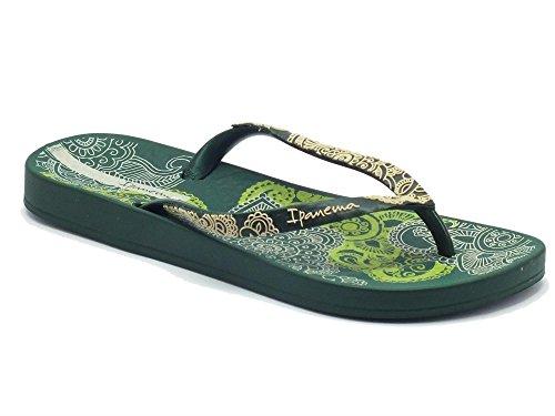 Ipanema 81453 Anat. Lovely V Fem Green/Green/Beige - Sandalias de goma para mujer Verde verde Green/Beige