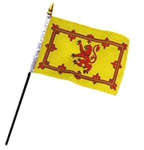 """Escocia León 4""""x6"""" bandera de escritorio Stick (sin base)"""
