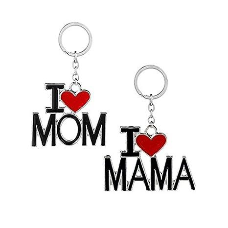 Tinksky Me encanta mamá llavero te amo MAMA llavero para el ...