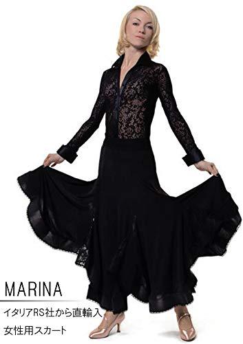 (アールエスアトリエ) RS Atelier 「Marina」 スカート  社交ダンス レッスンウェア ダンス レディース マリグラント 女 女性 ストレッチ B0747P98N6  Large