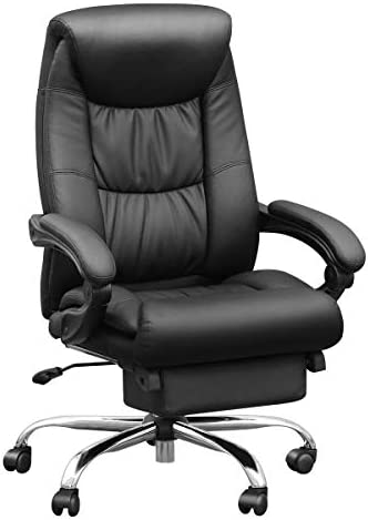 Duramont Reclining Office Chair with Lumbar Support – High Back Executive Chair – Thick Seat Cushion – Ergonomic Adjustable Seat Height and Back Recline – Desk and Task Chair