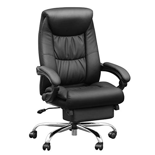 Duramont Reclining Office Chair with Lumbar Support - High Back Executive Chair - Thick Seat Cushion - Ergonomic Adjustable Seat Height and Back Recline - Desk and Task ()