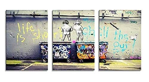 YPY Kids Canvas Wall Art for Home Decor Giclee Artwork 3 Panels Stretched and Framed Ready to Hang for Bedroom Living Room (K301, Huge)