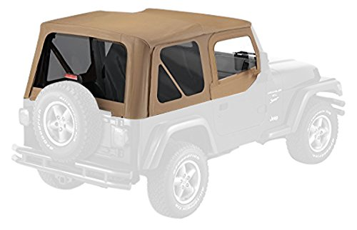 (Pavement Ends by Bestop 51197-37 Spice Replay Replacement Soft Top Tinted Back Windows w/Upper Door Skins for 1997-2006 Jeep)