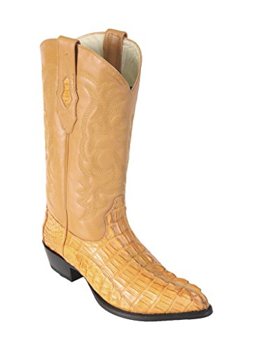 - Men's J-Toe Buttercup Genuine Leather Caiman Tail Skin Western Boots