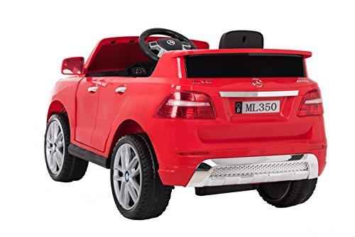 ATAA Mercedes ML350 Licenciado batería 12v - Rojo - Grandes Dimensiones 110*67*53cm: Amazon.es: Juguetes y juegos