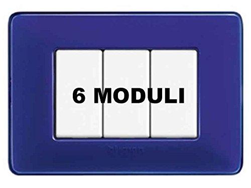 Placca Bticino Matix Am4806Cbu 6 Moduli Cobalto