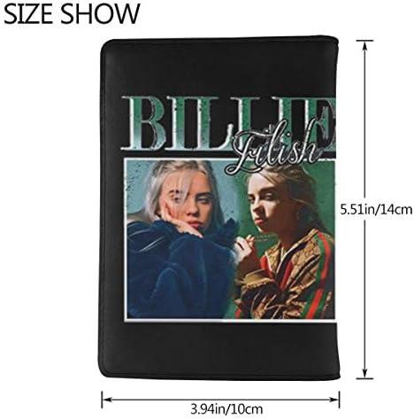 Billie Eilish ビリー・アイリッシュ パスポートケース メンズ 男女兼用 パスポートカバー パスポート用カバー パスポートバッグ 小型 携帯便利 シンプル ポーチ 5.5インチ高級PUレザー 家族 国内海外旅行用品