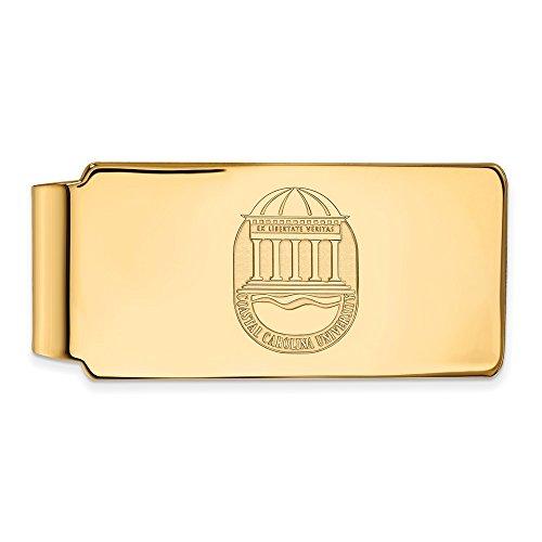 Clip University CCU Carolina Money Plated Official Licensed Coastal Collegiate Gold w Crest LogoArt Silver Yellow 14K Sterling CnxqAZ7wSq