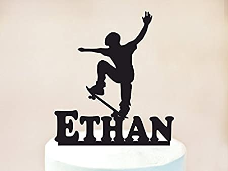 Incredible Skateboard Theme Cake Topper Skateboarder Cake Topper Skateboard Funny Birthday Cards Online Elaedamsfinfo