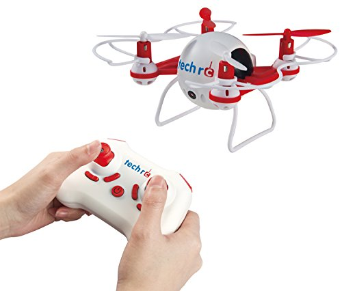 TechRC TR001C Mini Bee 6 Axis Gyro 2.4GHz Quadcopter RC Drone with 2MP HD Camera, One-Key Return Home and Headless 3D Flips & Rolls Mode - Red
