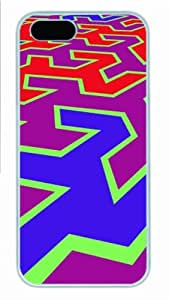 Hot iPhone 5S Customized Unique Print Design Abstract New Fashion PC White iPhone 5/5S Cases
