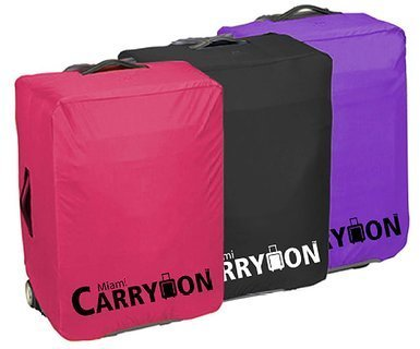 """Miami Carry on Unisex """"30 Luggage Cover TLC30MBK"""" Expandable 77x53x35 Black Color"""