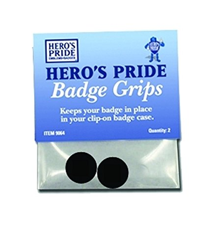 BADGE GRIPS, SET OF 2 - Police Officer Detective Private Investigator sheriff chp security badge holder - Sold by UNIFORM ()
