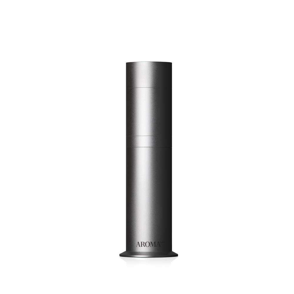 AromaTech AroMini Aluminum Essential Oil Nebulizing Diffuser for Aromatherapy and Scent Diffusing in Silver