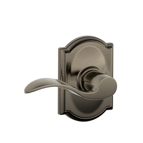 - Camelot Trim with Accent Hall and Closet Lever, Antique Pewter (F10 ACC 620 CAM)