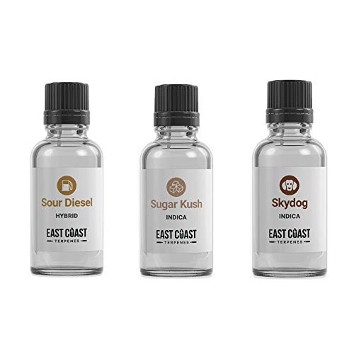 East Coast Sugar Kush, Sour Diesel, and SkyDog Terpenes Profile (10ml) (Best Sweet Tobacco E Juice)