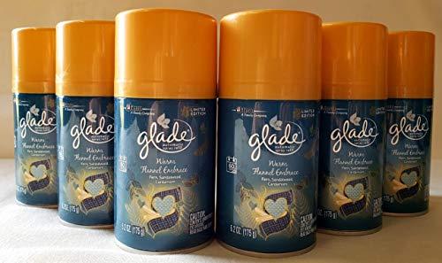 (6 Glade PLUGINS AUTOMATIC SPRAY REFILLS Warm Flannel Embrace Fern Limited Edit.)