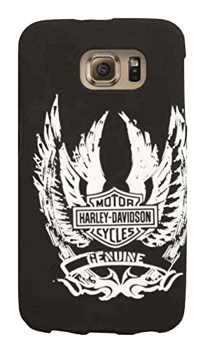Harley Davidson Telephone - Harley-Davidson Samsung Galaxy S6 Winged B&S TPU Black Phone Shell