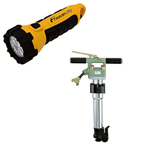 Toucan City LED Flashlight and SULLAIR Air Powered 30 lb. 7/8 in. Hex x 3-1/4 in. Paving Breaker MPB-30A