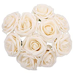 SSXY Fake Rose Lightweight Artificial Flowers Roses with Foam Multicolor Party Valentine's Day 75