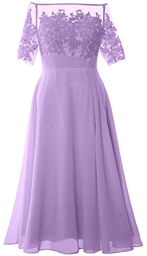 Macloth Formal Women Of Gown Evening Length Bride Tea Mother Lavender Dress Off Shoulder bIY6gvyf7