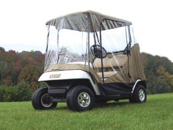 Deluxe Golf Cart Cover - Universal Fit - Sand Colored For 2 passenger Golf Carts
