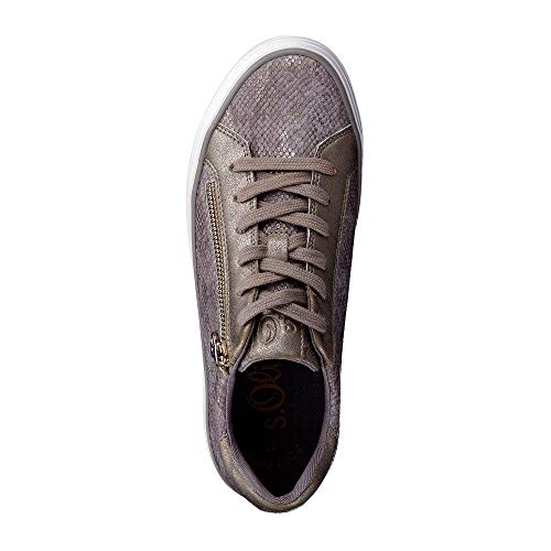 Grau Zapatillas Mujer 23615 metallic oliver Para S XFxqHETwq