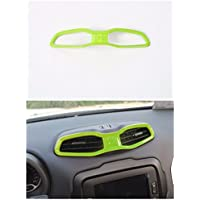 FMtoppeak ABS Inner Central Air Outlet Vents Cover Frame Trims for Jeep Renegade 2014 UP Green