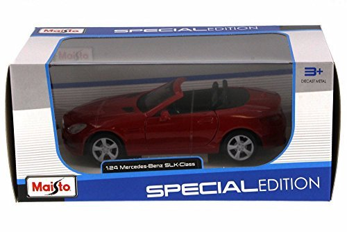 2011-mercedes-benz-slk-convertible-red-maisto-31206r-1-24-scale-diecast-model-toy-car
