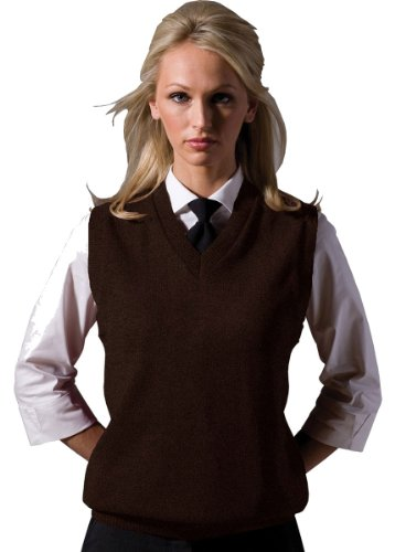 Ed Garments Women's V-Neck Durable Sweater Vest