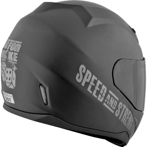 Amazon.com: Speed and Strength Go For Broke Mens SS700 On-Road Racing Motorcycle Helmet - Black / Large: Automotive