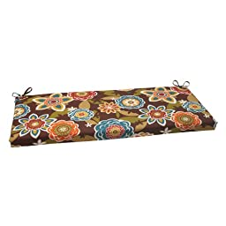 Pillow Perfect Indoor/Outdoor Annie Bench Cushion, Chocolate