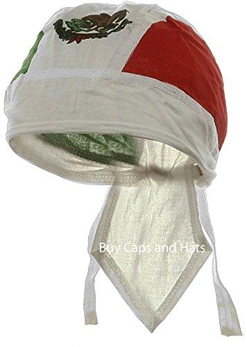 Mexican Flag Bandana Wrap Cotton Motorcycle Mexico Do Rag Buy Caps and Hats
