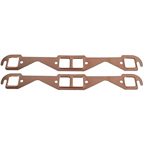 Small Block Fits Chevy Copper Exhaust Gaskets, Square Port