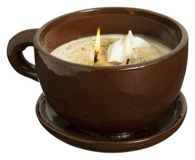 Swan Creek Coffee Mug Scented Candle Large 11 oz (Brown Cup - Roasted Espresso Scent) Coffee Cup Candles