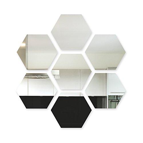 Wandkings Acrylic Mirror - Geometric Hexagon Honeycomb Decorative Mirror - 3 mm Thickness - 7 pcs by Wandkings