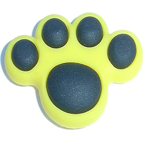 - Yellow Paw Shoe Rubber Charm for Wristbands and Shoes