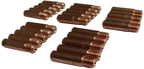 Mig Wire Contact Tips (Metal Man M113525 Contact Tips 11-35, Copper, Pack of 25)