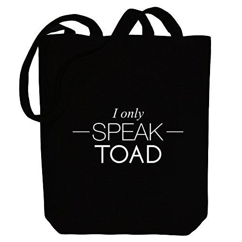 only Idakoos Tote Idakoos I I speak Canvas Bag Toad Animals tTqgBw