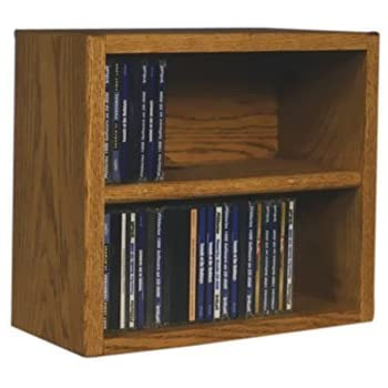 Cdracks Media Furniture Solid Oak Desktop Or Shelf CD Cabinet Capacity 52  CDu0027s Honey Finish
