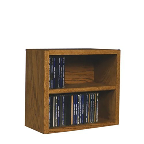 Cdracks Media Furniture Solid Oak Desktop or Shelf CD Cabinet Capacity 52 CD's Honey ()