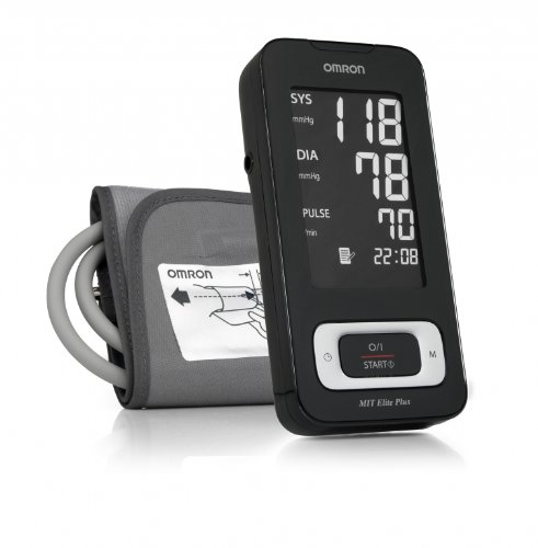 Omron MIT Elite Plus Upper Arm Blood Pressure Monitor with Download...