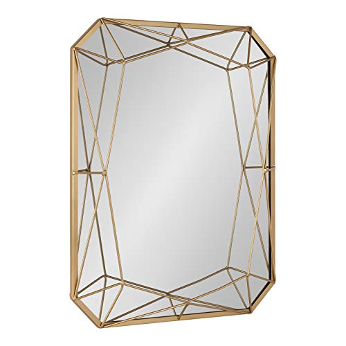 Kate and Laurel Keyleigh Modern Glam Geometric Shaped Metal Accent Wall Mirror, Gold