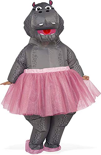 Ballerina Costumes For Adults (Rubie's Inflatable Hippo Adult Costume, As Shown, One)